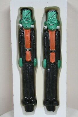"Robert Alan Candle Co Frankenstein 10"" Sculptured Taper Candlestick Halloween"