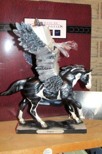 TEMPEST MIGHTY DARK PEGASUS HORSE FIGURINE TRAIL OF PAINTED PONIES 1E/3089 NIB!