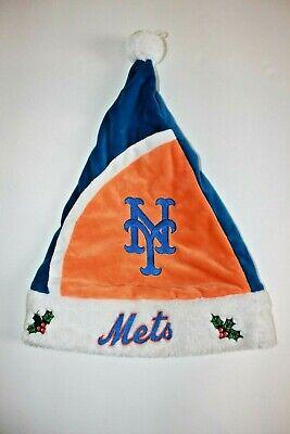 Mistle Toe Hat (New York Mets Logo Mistletoe Christmas Santa)
