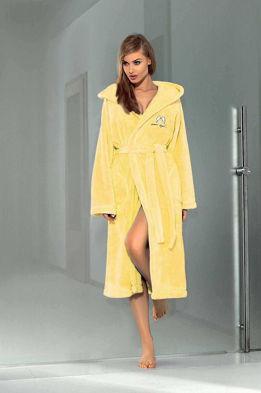 0b97c6870f Women Luxury SOFT Robe Housecoat Dressing Gown Hooded Bathrobe UK Size S M  L XL