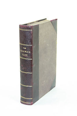 The Pickwick Club - Works of CHARLES DICKENS EDITION Illustrations Antique Book