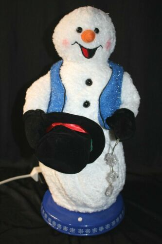 Gemmy Animated Christmas Spinning Snowflake Snowman Working! Snow Miser w/ Cord!