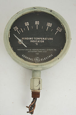 General Electric Winding Temperature Indicator Gauge Large 6.5 Steampunkd3l-1
