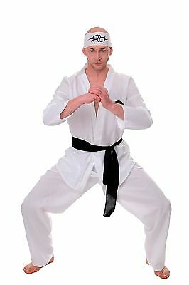 DRESS ME UP Kostüm Herren Herrenkostüm 80er Karate Ninja Kungfu Action Gr.S/M