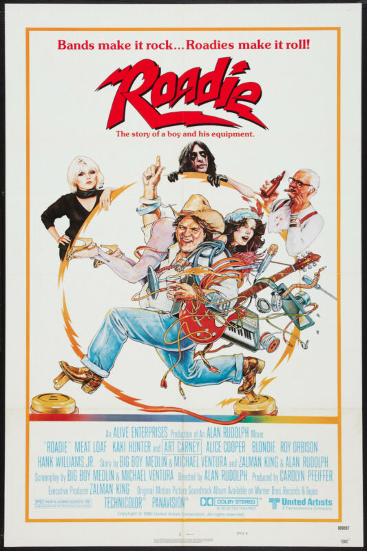 ROADIE original 1980 one sheet movie poster ALICE COOPER/MEAT LOAF/BLONDIE