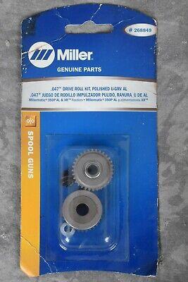New Miller Welding .047 Drive Roll Kit Polished U-grv 350p Al Xr Control 268849
