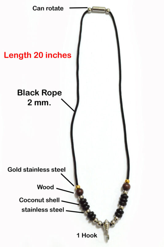 Black Necklace Rope Thai Buddha Amulet Pendant Luck Rich Protect 1 Hook 24窶�