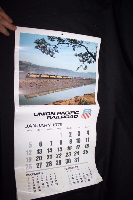 Original Union Pacific Railroad Calendar 1975