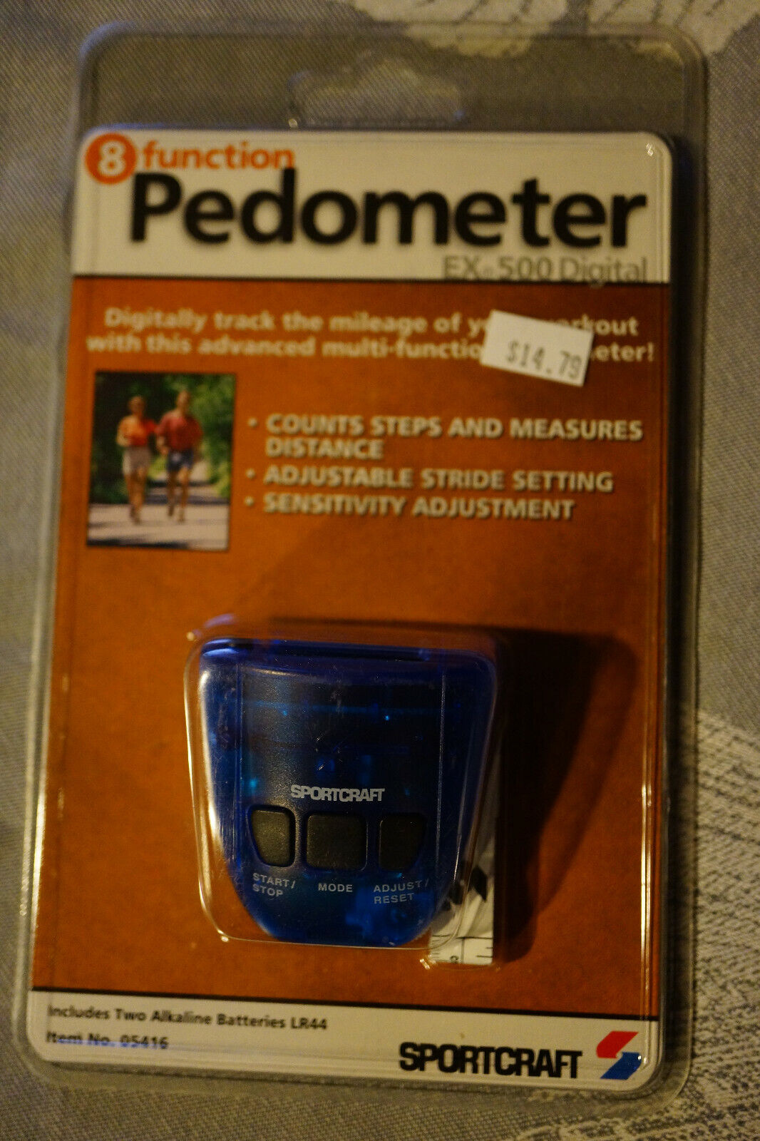 pedometer 8 function by new old stock