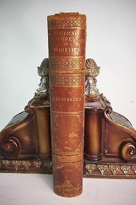 1891 The Poetical Works Of John Greenleaf Whittier  Poems Poetry Illustrated