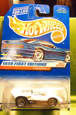 Hotwheels Hot Wheels Race Car White Chaparral 2 Space Aged Style 1998