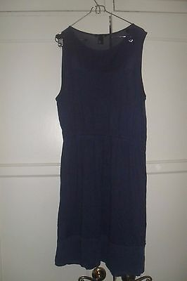 WOMENS H&M Basic  NAVY Sleeveless   Simple BOJO Dress  SIZE Large