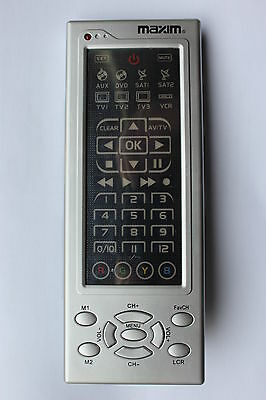 Maxim MX10-38 8-in-1 universal remote control with PDF instruction and code