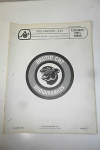 1975-Arctic-Cat-Panther-440-Snowmobile-Illustrated-Parts-Manual-Vintage