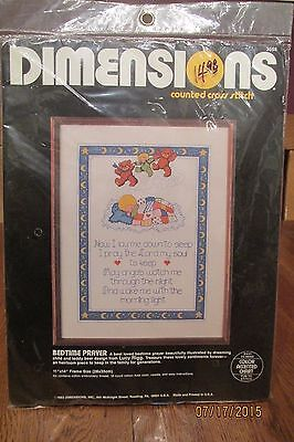 Vintage Dimensions Counted Cross Stitch Kit ~ Bedtime Prayer ~ Lucy Rigg