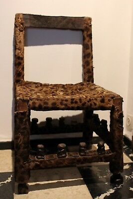 CONGO old african chief stool chaise chef ancien CHOKWE africa afrique stoel