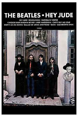 The Beatles *Hey Jude* Capitol Promotional Poster 1970 Large Format  24x36