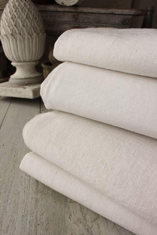Linen cotton sheets French ~ FOUR  homespun French linen sheets 4 fabric