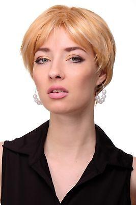 Damenperücke Perücke kurz voluminös gescheitelt honigblond platin blond GFW1863