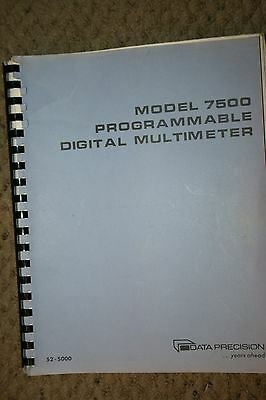 Data Precision 7500dmm Programmable Digital Multimeter  Manual Schematics