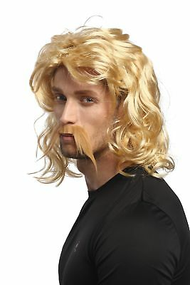 Perruque Barbe Homme Halloween Carnaval Blonde Gaule Germanique Barbare - Halloween Celte