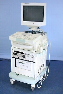 Biosound Esaote 7250 Megas Color Ultrasound W 2 Transducers Warranty Printer