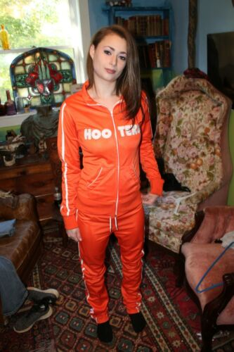Vintage Authentic HOOTERS Girl Small Track Suit Jacket Sweat Pants