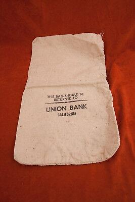 "Union Bank California Canvas Bank Deposit Money Bag (A2L-8 ) 1077 18"""