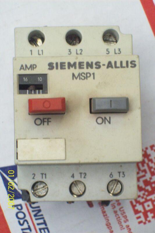 SIEMENS MOTOR STARTER PROTECTOR ADJUSTABLE AMP RANGE 10-16 , MSP10Q