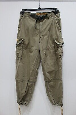 Abercrombie and Fitch Paratroops cargo pants military mens M 33x31 belted cotton