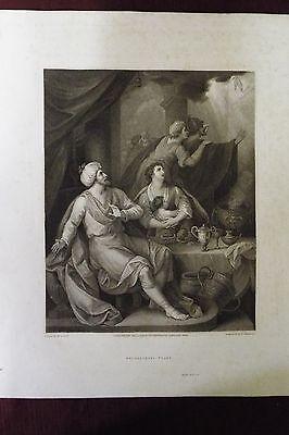 1800 Macklin Bible Engraving - Belshazzar's Feast