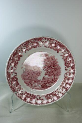 Olde England Pink Royal Tutor Ware SALAD PLATE Barker Bros. #691 Staffordshire
