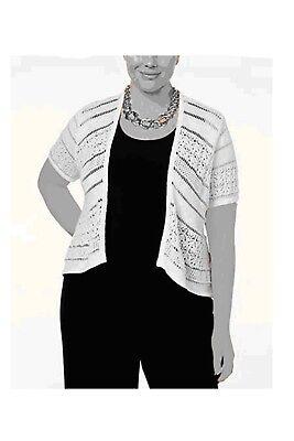 - Tunic Shrug Cardigan Sweater White Womens 0X 1X 2X 3X NEW Crochet Style&Co Z413
