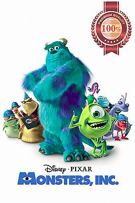 NEW MONSTERS INC SULLY MIKE CHARACTERS PIXAR FILM MOVIE ART PRINT PREMIUM POSTER