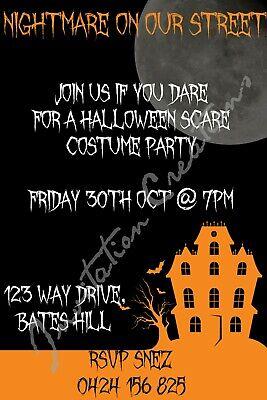 Diy Halloween Birthday Invitations (DIY Print Custom HALLOWEEN SCARY  Birthday Party)