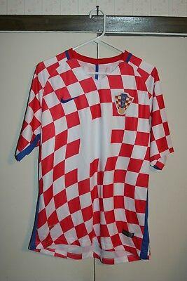 Nike 2016 Croatia National Soccer Jersey Checker Men XL Multi Red White MLS Hip image