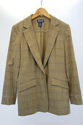 EUC Vintage Lands' End Blazer | Sz. 12 Regular, Beige Wool, Cashmere, & -