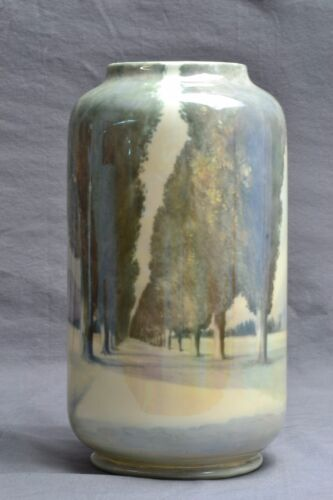 Royal Doulton Pottery Vase, Scenic Vase By R Holdcroft, 1925-73