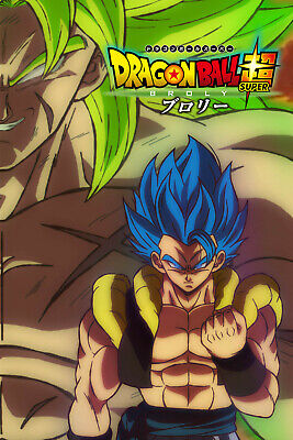 2X Posters Dragon Super Broly The movie 12inx18in Each Free Shipping
