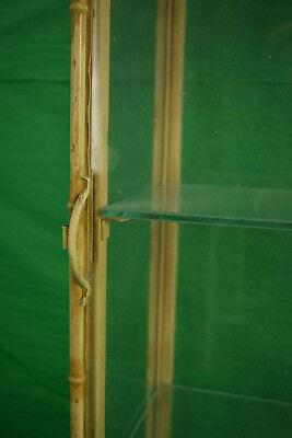 Palm Beach Chinoiserie 3 Shelf Glass & Metal Bamboo Pagoda Etagere