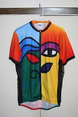 Voler AIDS Ride 2000 VTG Cycling Jersey Racing Men XL Multi Rainbow Biking  EUC de15796aa