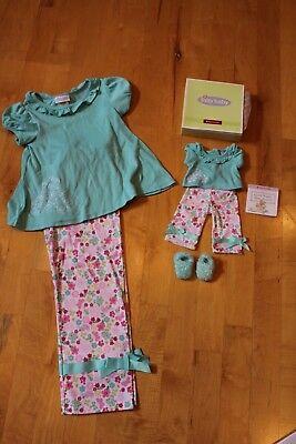 American Girl Bitty Baby Spring Garden PJs and Matching Girl Pajamas, sz. XL