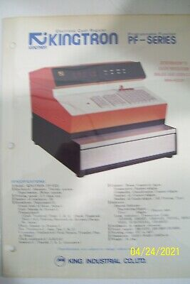 Vintage Kingtron PF Series Cash Register Brochure