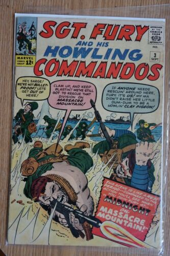Marvel Sgt. Fury and his Howling Commandos #3 (Sep,1963) Reed Richards app.