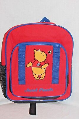 "NEW WITH TAG WINNIE THE POOH  10"" X 12"" DISNEY  BACKPACK"