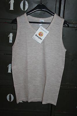 Ropa Interior Cálido - Camiseta de Tirantes Chaleco Beis Talla 3 Vintage...