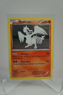 Reshiram BW004 Black and White Holo Black Star Promo Rare Pokemon Card