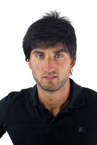 Parrucca da uomo UOMINI casual Wild Via in stile alla moda nero parrucchino
