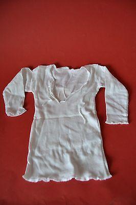 Babykleidung Baby Bindehemd Langarm weiß Gr 58 Original DDR
