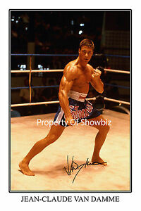JEAN-CLAUDE-VAN-DAMME-LARGE-SIGNED-AUTOGRAPH-PHOTO-PRINT-LOOKS-GREAT-FRAMED